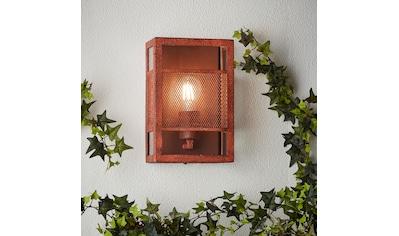 Brilliant Leuchten Außen-Wandleuchte, E27, Getta Außenwandleuchte rostfarbend kaufen