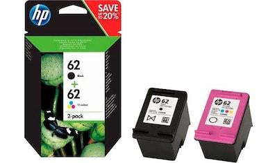 HP »hp 62, original, N9J71AE, farbig schwarz, mehrfarbig 2 St./Pack.« Tintenpatrone kaufen