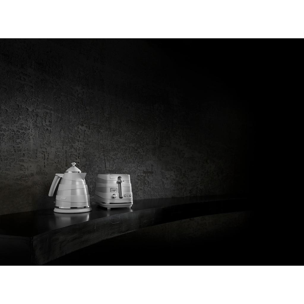 De'Longhi Toaster »Avvolta CTA 2103.W«, 2 kurze Schlitze, für 2 Scheiben, 900 W