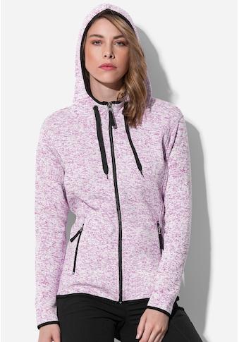 Stedman Fleecejacke »Outdoor Knitted«, in Strickoptik kaufen