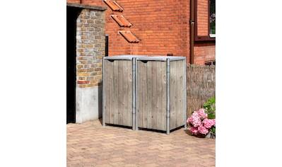 HIDE Mülltonnenbox für 2 x 120 l, grau/natur kaufen