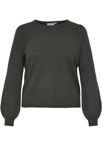 ONLY CARMAKOMA Rundhalspullover »CARKARIA«, mit Faltendetails an den Schultern kaufen
