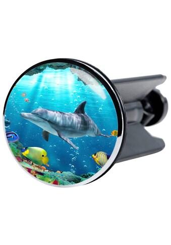 Sanilo Waschbeckenstöpsel »Delphin Korallen«, Waschbeckenstöpsel kaufen
