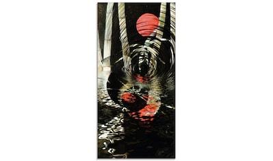 Artland Glasbild »Roter Mond im Bambus«, Landschaften, (1 St.) kaufen