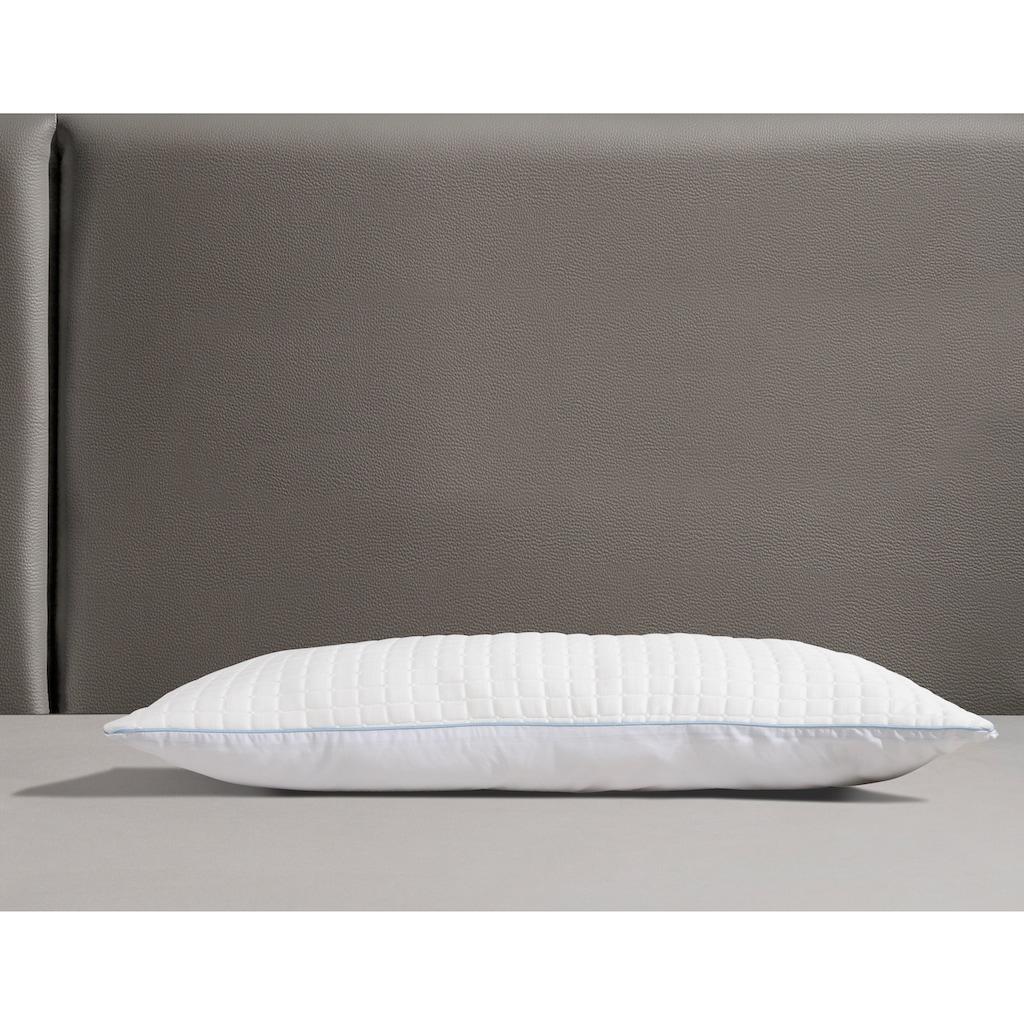 RIBECO Kopfkissen »Olaf«, Füllung: Polyester, Bezug: Baumwolle & Polyester, (1 St.), mit Sommer- und Winterseite!