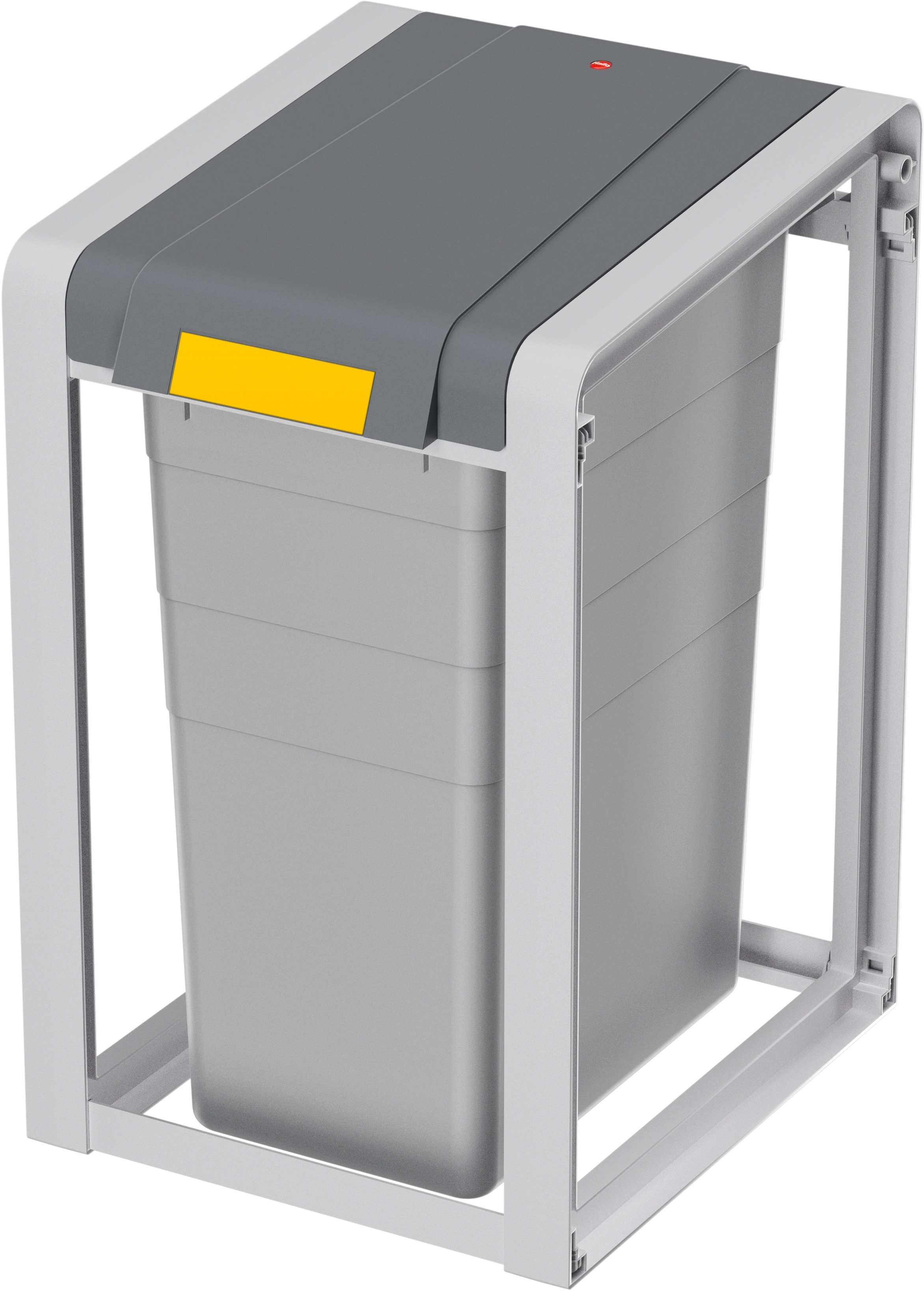 Hailo Mülltrennsystem ProfiLine Öko XL,Basiseinheit,38l grau Küche Ordnung Mülleimer