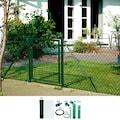 GAH Alberts Maschendrahtzaun, 125 cm hoch, 50 m, grün beschichtet, zum Einbetonieren