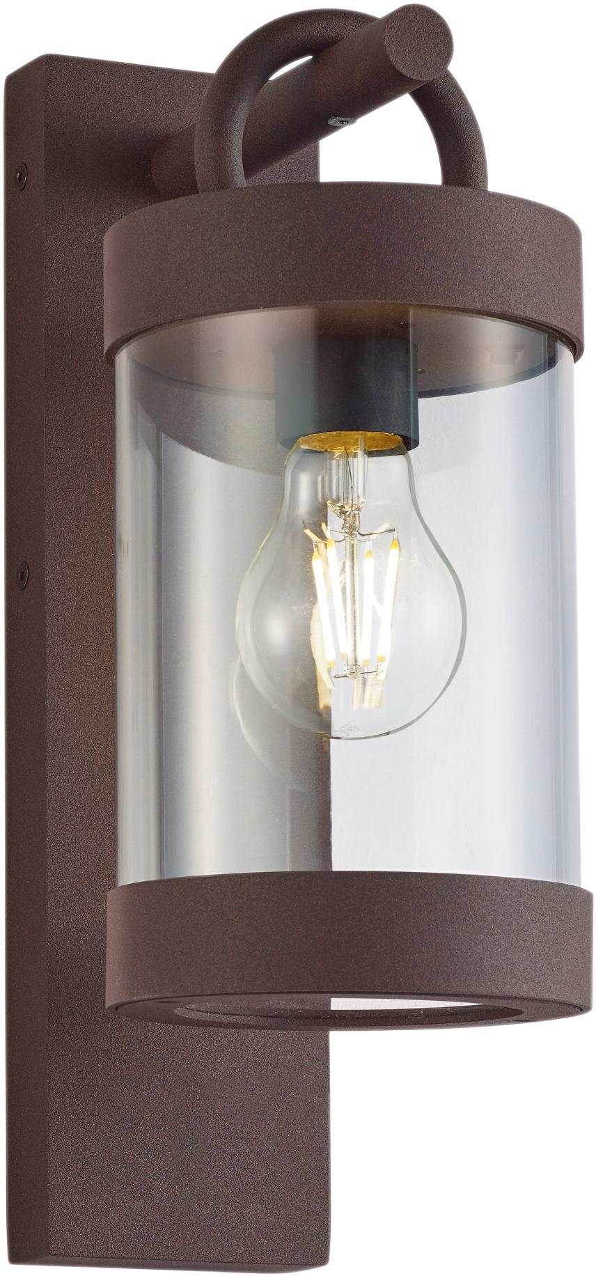 TRIO Leuchten Außen-Wandleuchte Sambesi, E27, Dämmerungssensor, Leuchtmittel tauschbar