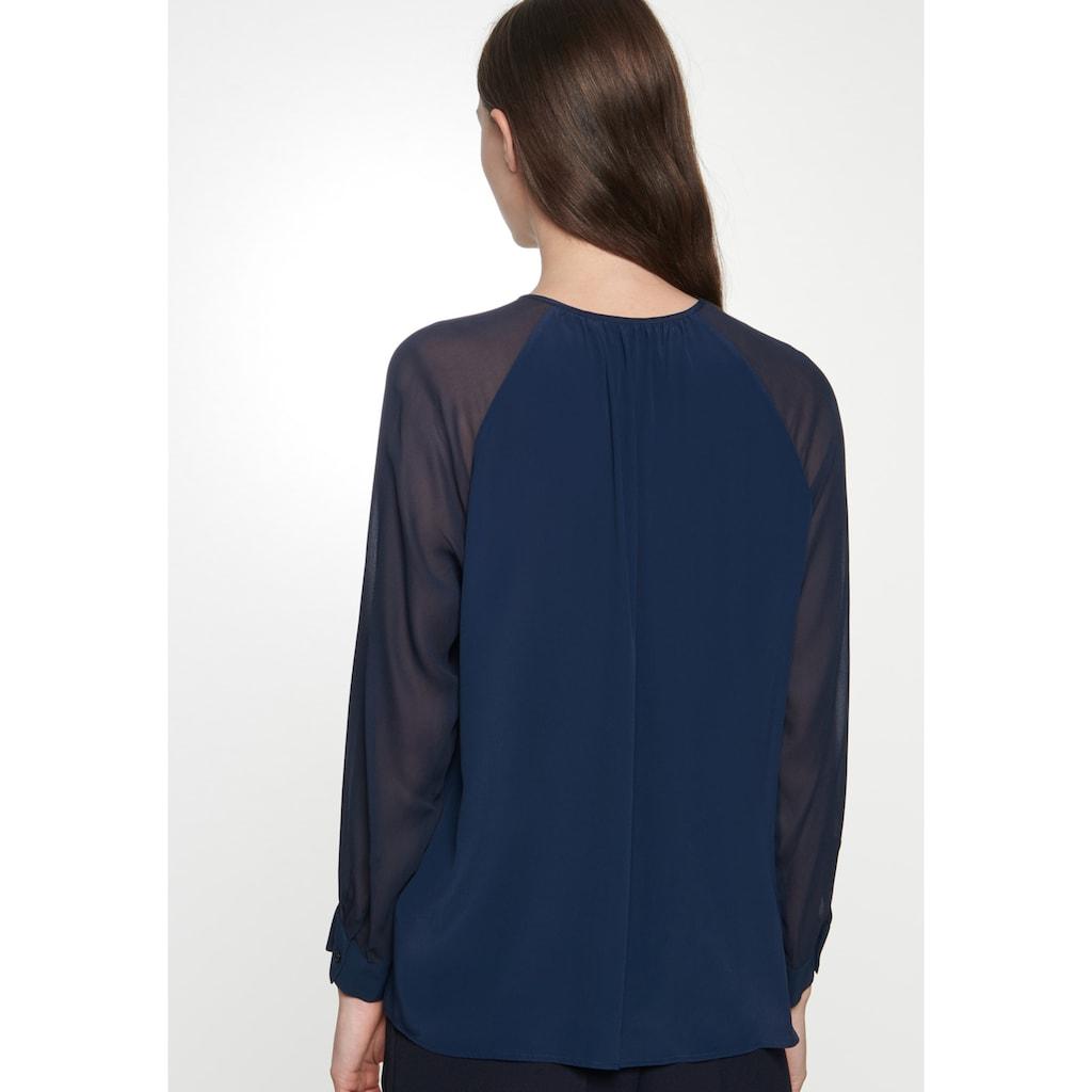 seidensticker Shirtbluse »Schwarze Rose«, Langarm Rundhals Uni