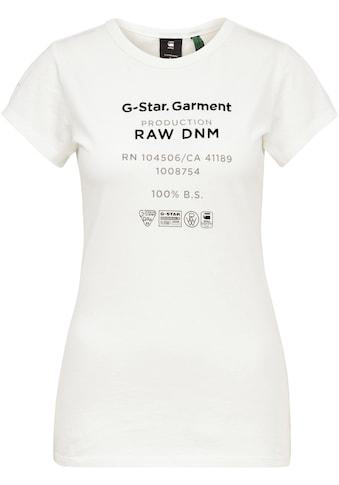 G - Star RAW Rundhalsshirt »Wash gr slim r t wmn s\s« kaufen