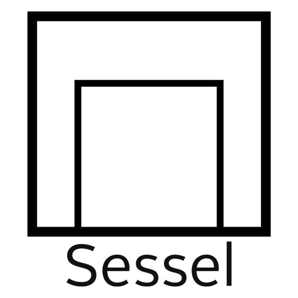 Guido Maria Kretschmer Home&Living Sessel »Chamby«, mit Holzrahmen unten und Steppung im Lehnenbereich