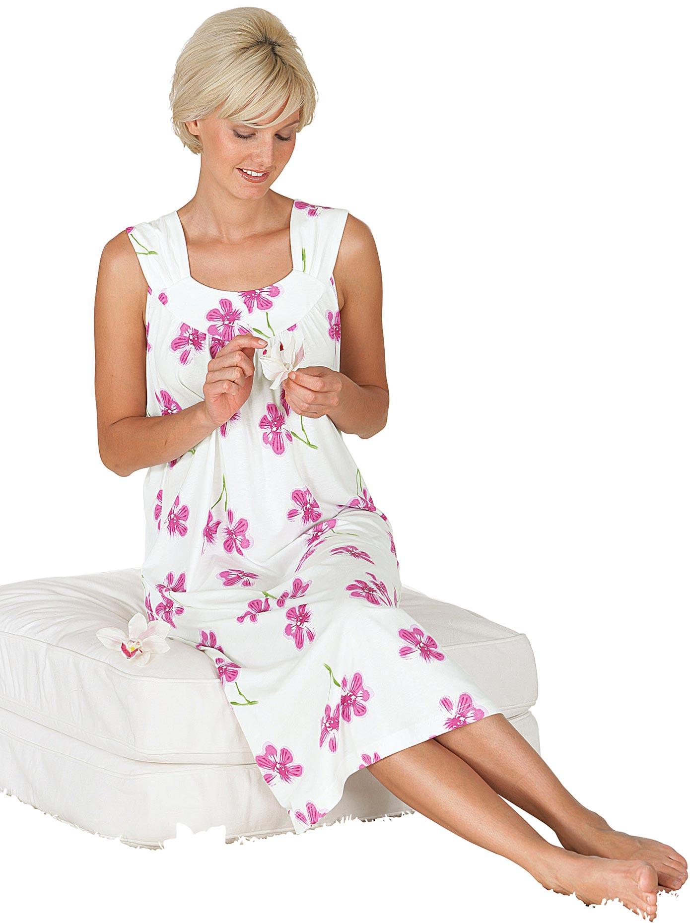 wäschepur Nachthemd im Blumen-Dessin