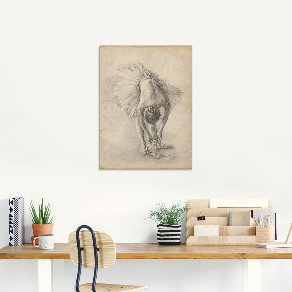 Artland Glasbild »Antike Ballerina Übung I«, Sport, (1 St.)