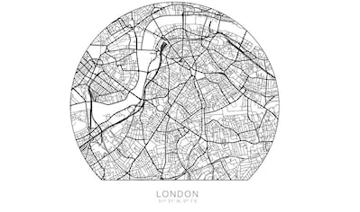 Wall-Art Wandtattoo »London Stadtplan selbstklebend« kaufen