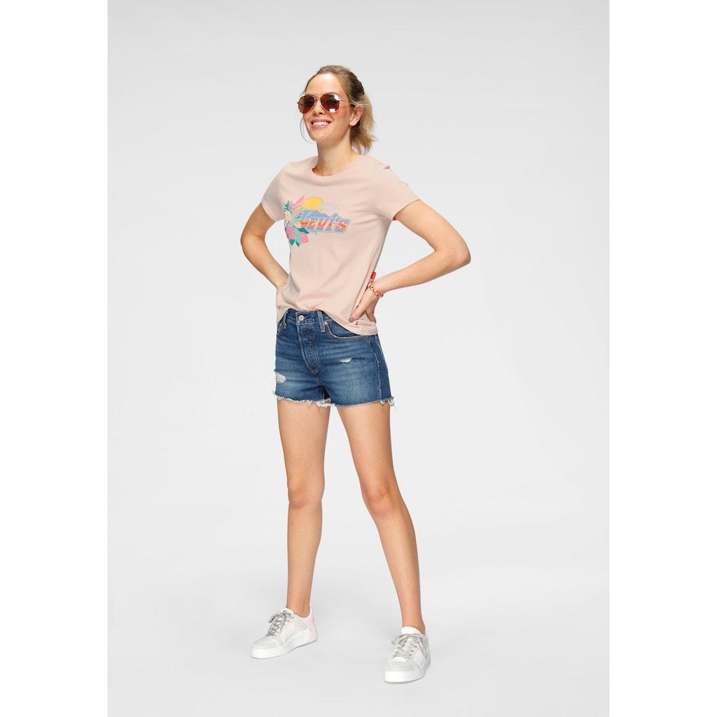 Levi's® Shorts »501 High Rise«, Mit Fransen und Destroyed-Effekten