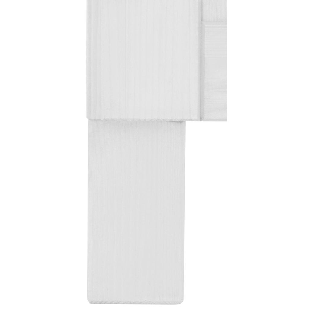 Home affaire Unterschrank »Oslo«, 100 cm breit, in 2 Tiefen, mit 23 mm starker Arbeitsplatte, 2 Schubkästen, 2 Auszüge, aus massiver Kiefer, Metallgriffe