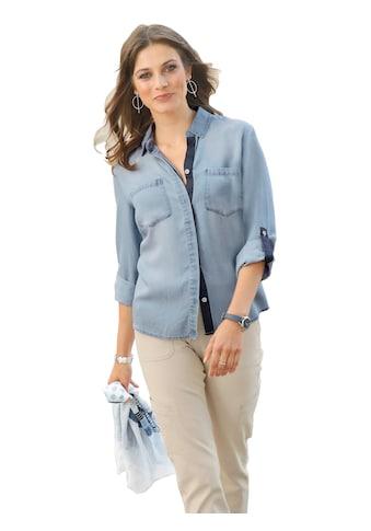 Ambria Jeansbluse mit verdeckter Knopfleiste kaufen
