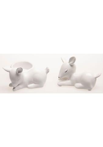 VALENTINO Wohnideen Teelichthalter »Feline«, aus Keramik kaufen
