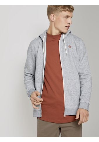 TOM TAILOR Denim Sweatjacke »Fein gestreifte Sweatjacke mit Kapuze« kaufen