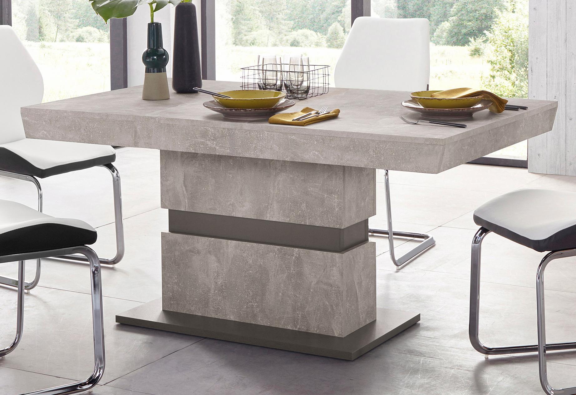 Homexperts Säulen-Esstisch Marley Wohnen/Möbel/Tische/Esstische/Esstische rechteckig