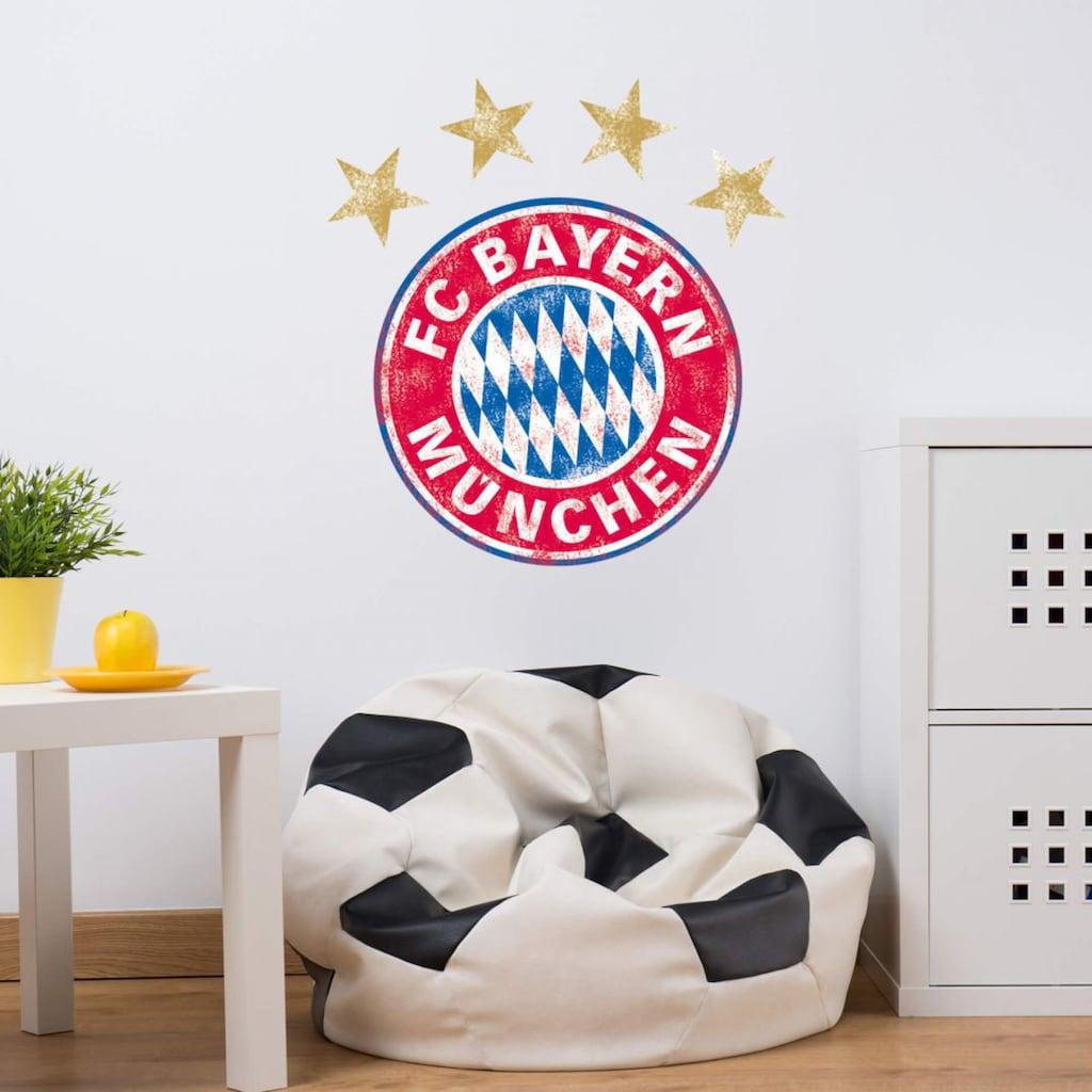 Wall-Art Wandtattoo »FC Bayern München Logo Vintage«