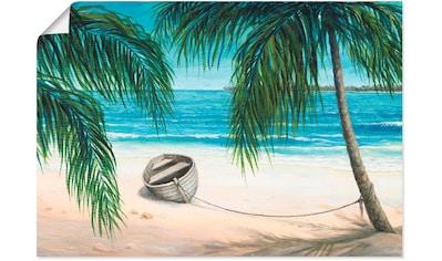 Artland Wandbild »Karibik«, Strand, (1 St.), in vielen Größen & Produktarten - Alubild / Outdoorbild für den Außenbereich, Leinwandbild, Poster, Wandaufkleber / Wandtattoo auch für Badezimmer geeignet kaufen