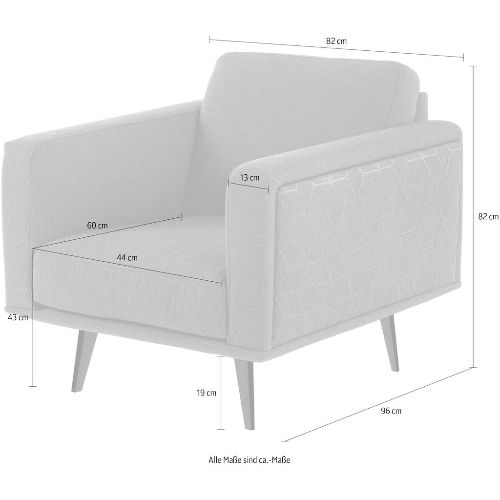 Villeroy & Boch Sessel »MIRA CARRÉ«, mit Metallfuß, designed by Wilhelm Bolinth