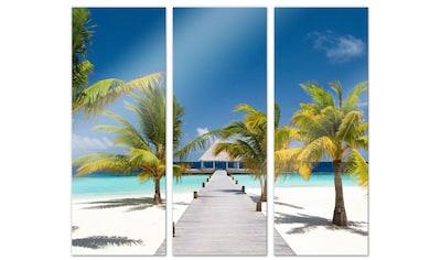 Wall-Art Mehrteilige Bilder »Der Weg ins Paradies (3-teilig)«, (Set, 3 St.) kaufen