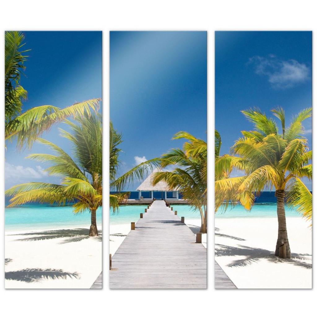 Wall-Art Mehrteilige Bilder »Der Weg ins Paradies (3-teilig)«, (Set, 3 St.)