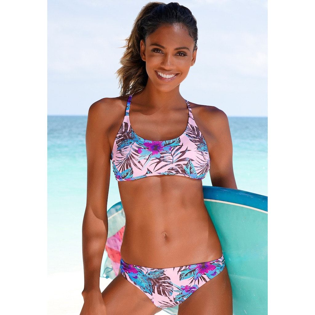 Venice Beach Bikini-Hose »Marly«, mit tropischem Print