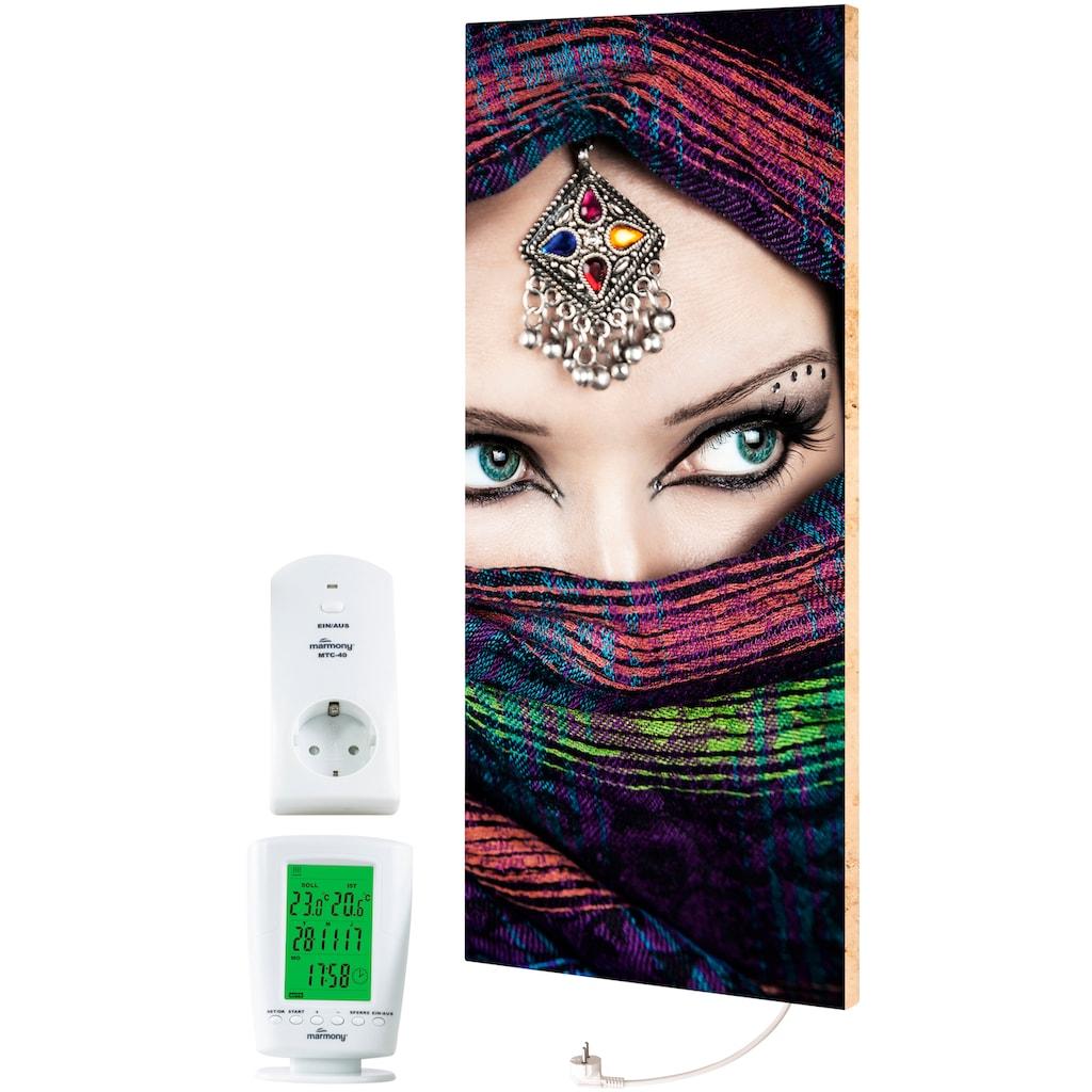 """Marmony Infrarotwandheizung »MOTIV-Heizkörper """"Arabic Eyes 2"""", 800 Watt«, trocknet Wände und Mauerwerk, aus deutschem Jura-Naturstein"""