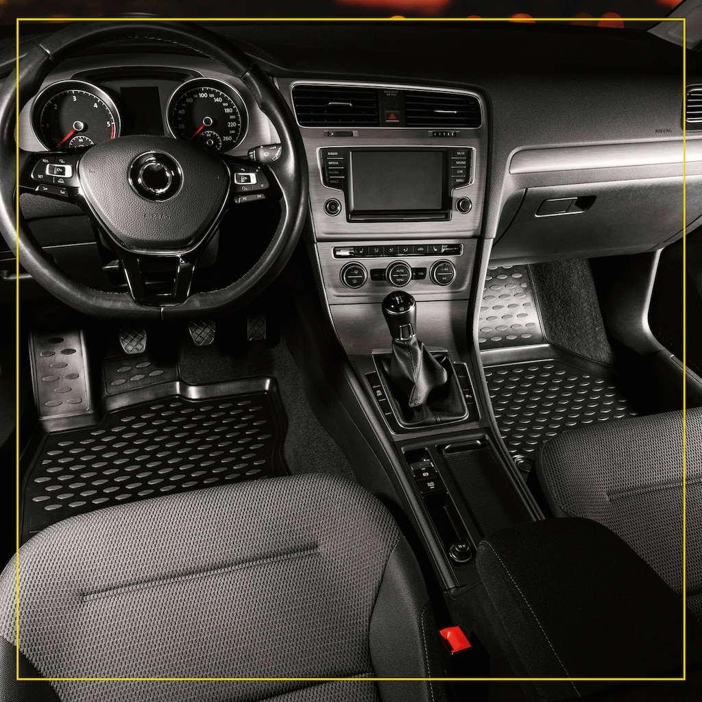 WALSER Passform-Fußmatten »XTR«, Audi, A3, Schrägheck, (4 St., 2 Vordermatten, 2 Rückmatten), für Audi A3 (8V) Sportback, Schrägheck BJ 2012 - heute