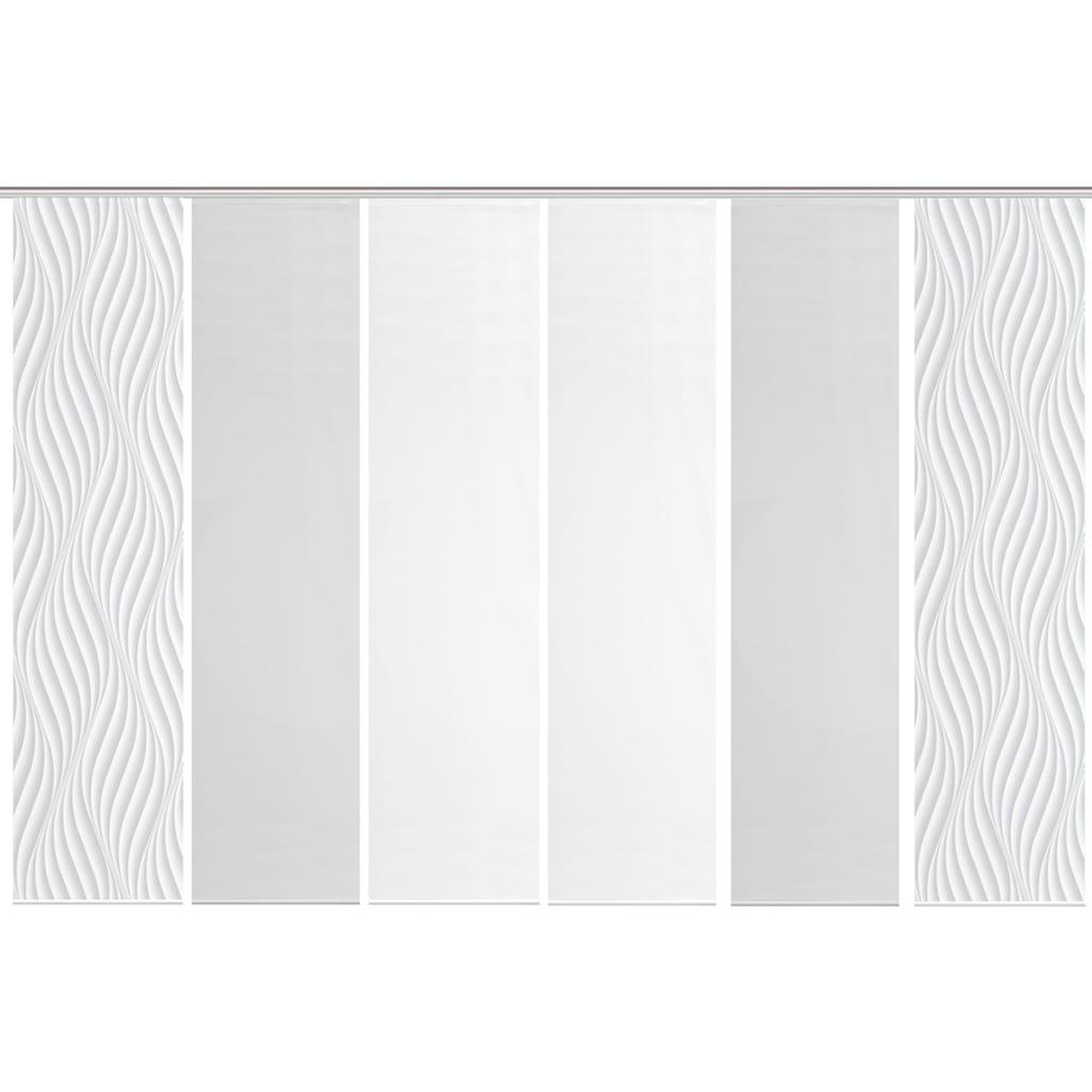 Vision S Schiebegardine »6ER SET WAVE«, HxB: 260x60, Schiebevorhang 6er Set Digitaldruck