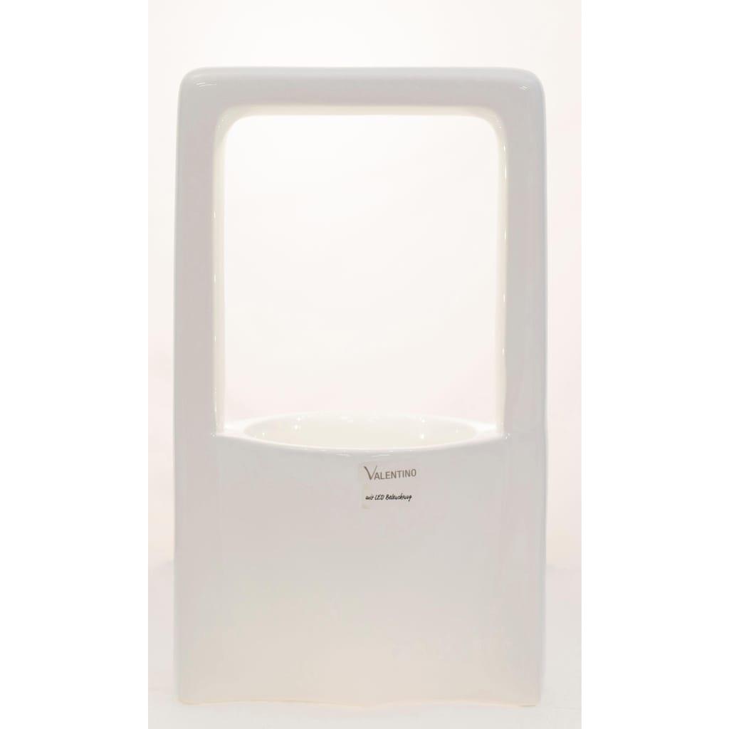 VALENTINO Wohnideen Pflanzschale »Malibu«, (1 St.), mit LED Beleuchtung