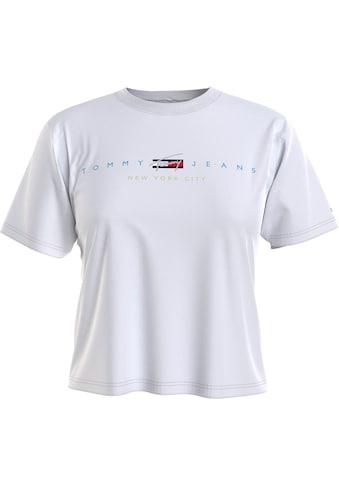 Tommy Jeans Rundhalsshirt »TJW BXY CROP MODERN LOGO TEE«, mit Tommy Jeans City... kaufen