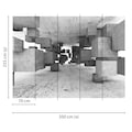 living walls Fototapete »Designwalls Concrete Tetris«