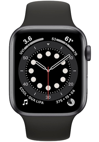 Apple Watch »Series 6 GPS, Aluminiumgehäuse mit Sportarmband 44mm« (, Watch OS, inkl. Ladestation (magnetisches Ladekabel) kaufen