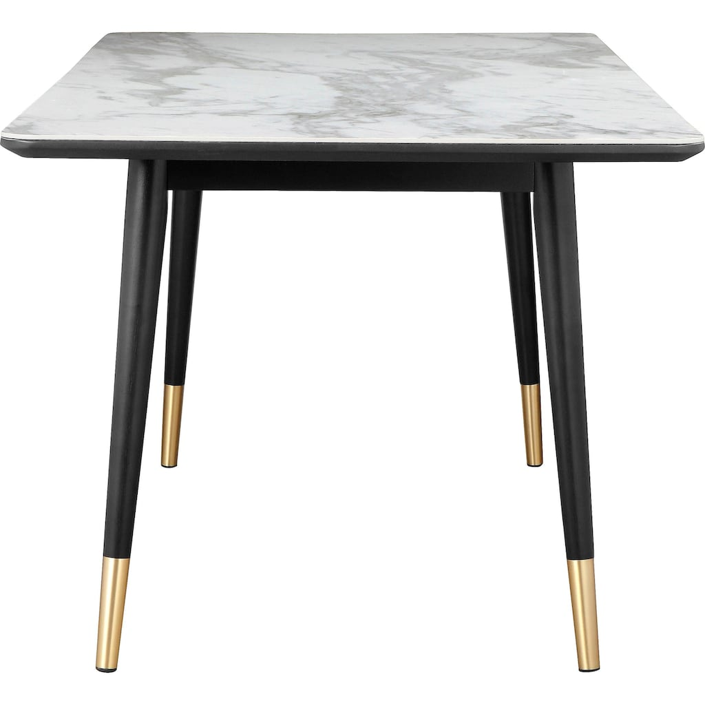 Leonique Esstisch »Lyon«, mit Keramik-Tischplatte in Marmoroptik