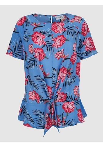 Dress In Druckbluse, mit modernem Knotendetail kaufen
