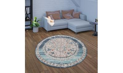 Paco Home Teppich »Torres 275«, rund, 4 mm Höhe, Orient-Optik, Vintage Design, In- und... kaufen
