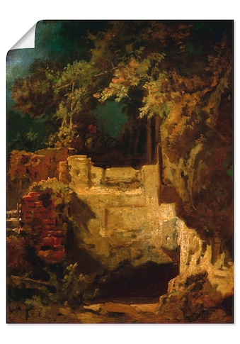 Artland Wandbild »Geigender Eremit in Felsenklause«, Musiker, (1 St.), in vielen... kaufen