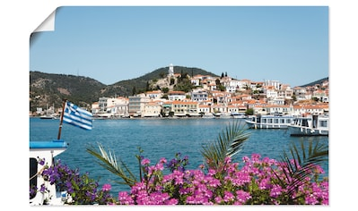 Artland Wandbild »Insel Poros«, Griechenland, (1 St.), in vielen Größen & Produktarten... kaufen