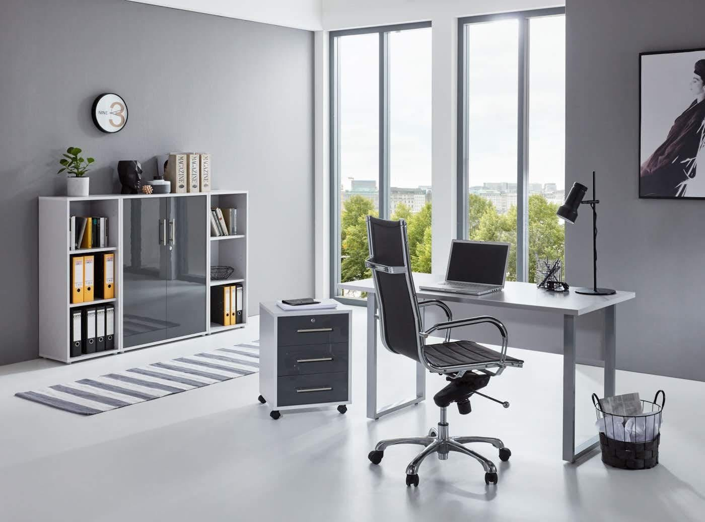 BMG Büro-Set Tabor Mini Kombi 2 grau Büromöbel