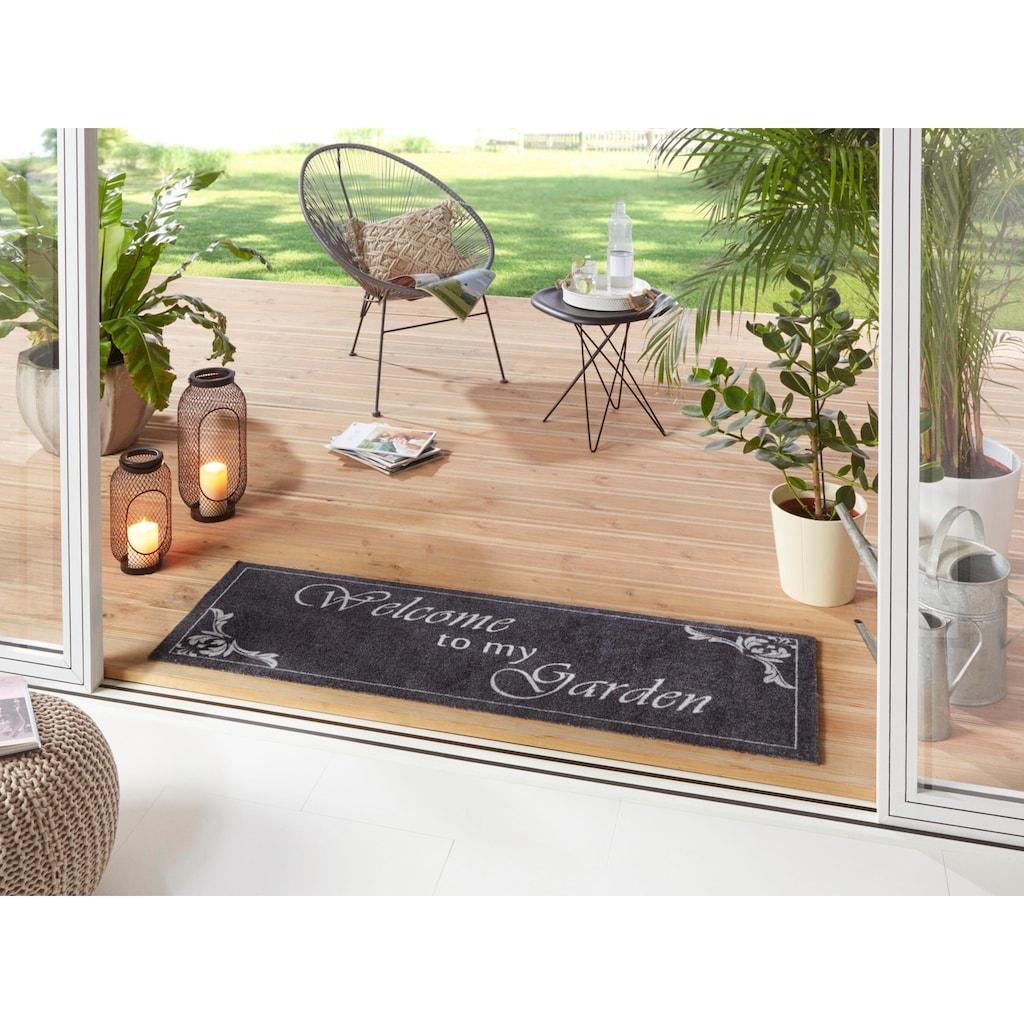 HANSE Home Läufer »Welcome To My Garden«, rechteckig, 5 mm Höhe, waschbar, In- und Outdoor geeignet
