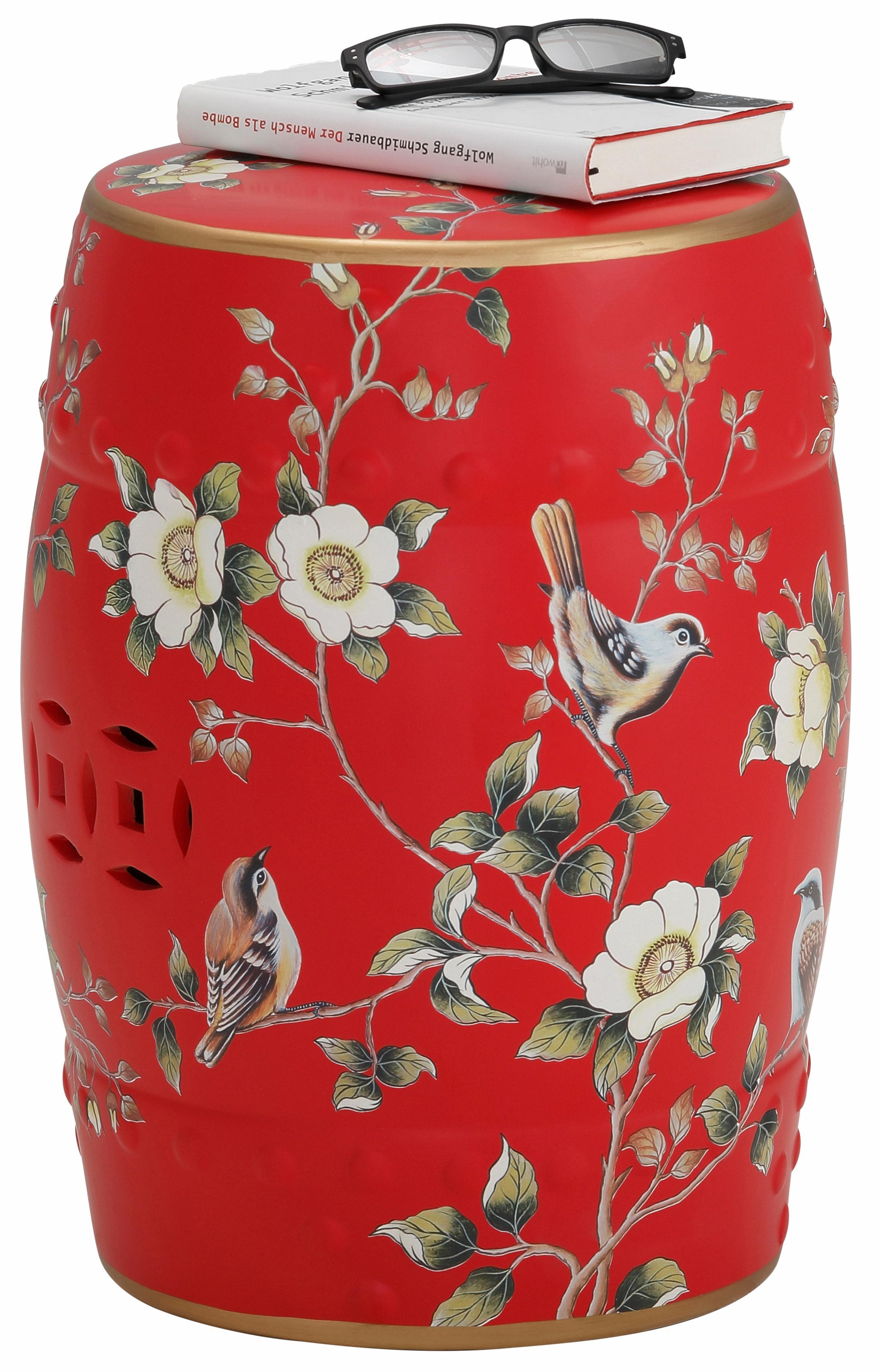 Home affaire Beistelltisch, aus Keramik rot Beistelltische Tische Beistelltisch