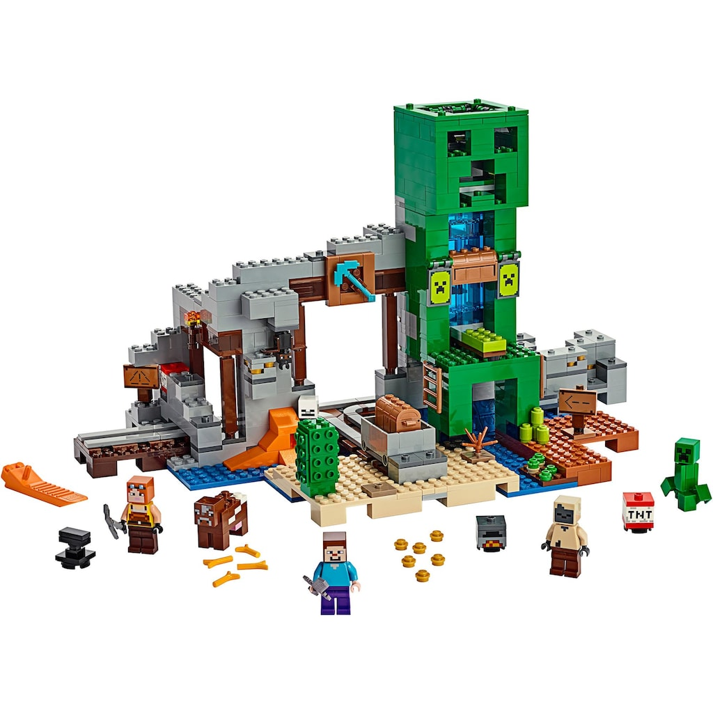 LEGO® Konstruktionsspielsteine »Die Creeper™ Mine (21155), LEGO® Minecraft™«, (834 St.), Made in Europe
