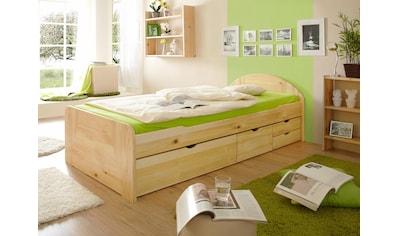 Ticaa Bett »Erna« In 3 Breiten Mit Bettschubkästen, Kiefer Kaufen