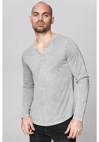 trueprodigy Langarmshirt »Premium Basic Caleb«, Henley Vintage kaufen