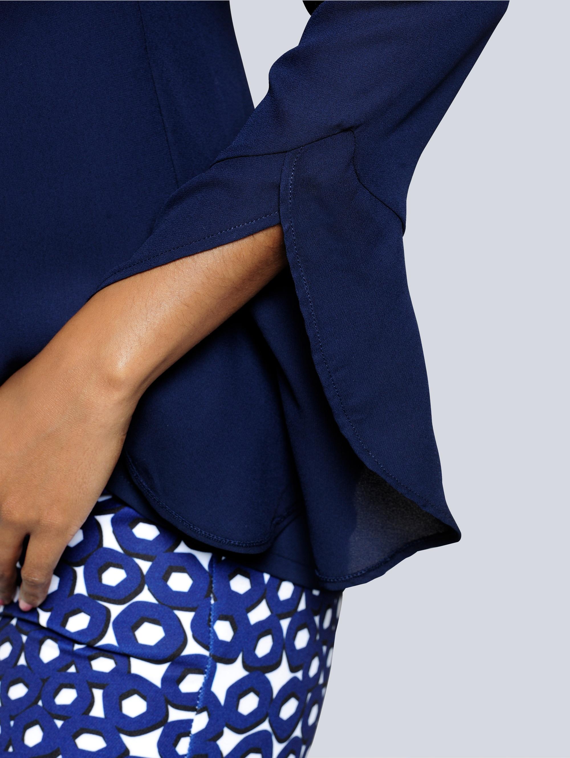 Alba Moda Bluse effektvoller Armabschluss mit Volants