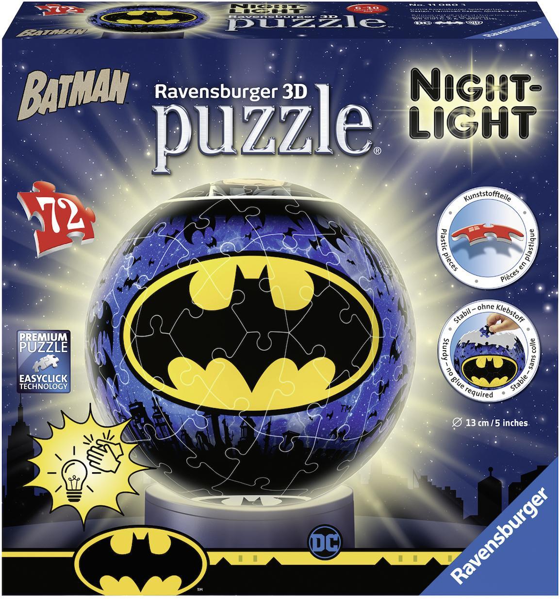 """Ravensburger Puzzleball """"Nachtlicht Batman"""" Technik & Freizeit/Spielzeug/Gesellschaftsspiele/Puzzle/Puzzleball"""